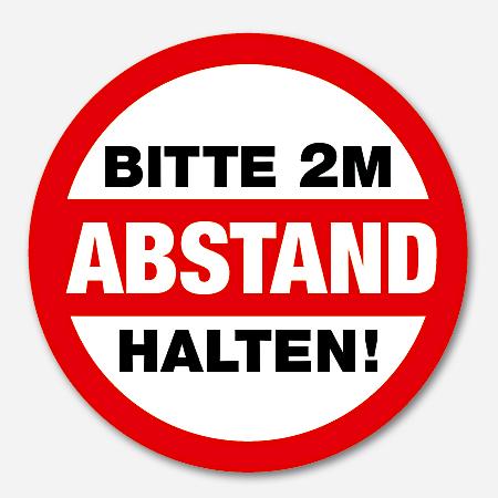Bitte Abstand halten! Sticker