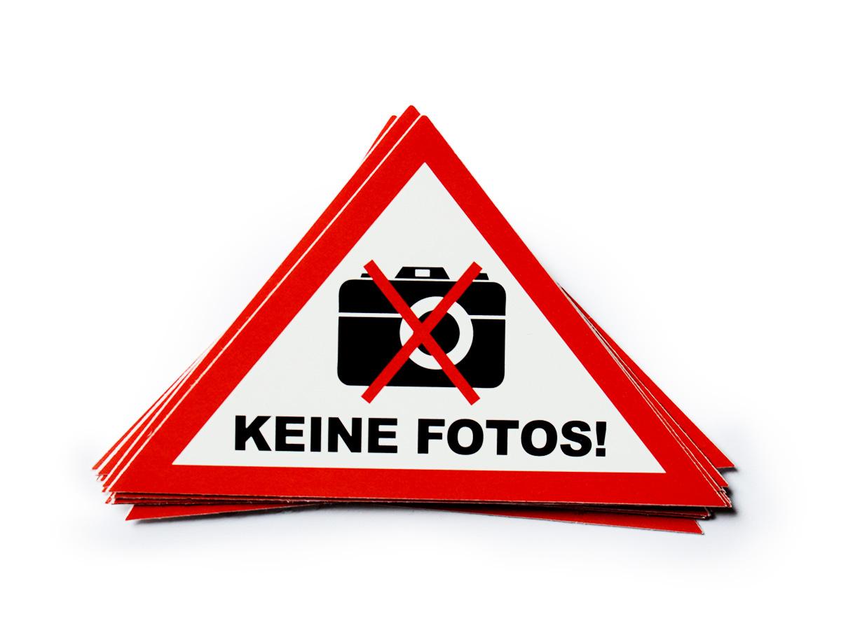 Keine Fotos! Aufkleber